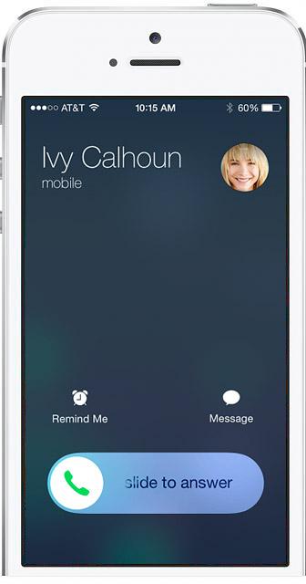 айфон почему при звонке картинка на весь экран предназначенная для