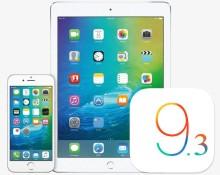 iOS-9.3 beta 1